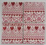 4 Ceramic Coasters in Emma Bridgewater Sampler